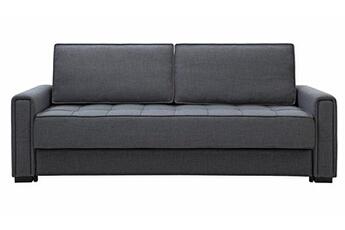 Canapé convertible en tissu noir 3 places