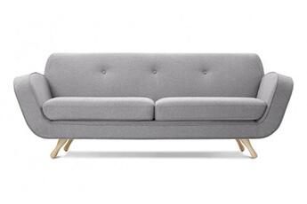 Canapé fixe tissu gris clair