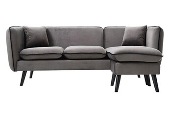 Canapé d'angle modulable gris