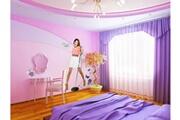 Bebegavroche Papier peint intissé silhouette violetta disney