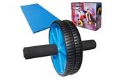 SOTECH Roue abdominale, ab roller avec tapis pour genoux, bleu, charge maximale: 100 kg
