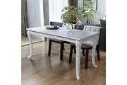Vidaxl Table de salle à manger 120x70x76 cm blanc brillant
