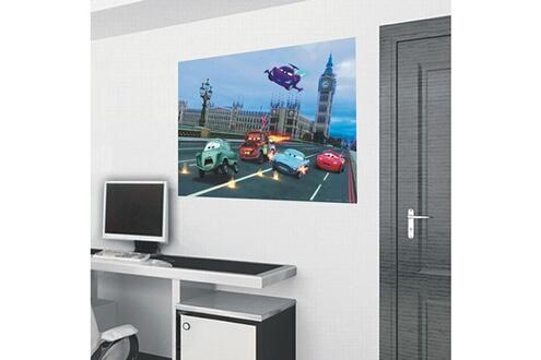 Bebegavroche Poster intissé xxl cars london disney 160x115 cm