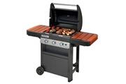 Campingaz Campingaz barbecue à gaz class 3 wlx, 3 brûleurs, puissance 9.6kw, système de nettoyage facile instaclean, grille et plancha, 2 tablettes latérales