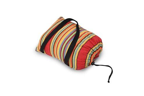 Leogreen Hamac, lit suspendu, rouge, avec support type-h, brésilien, coton, capacité: pour 2 personnes