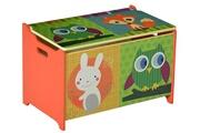 Pegane Coffre à jouet motif forêt, l 60 x p 40 x h 37 cm -pegane-