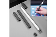 Prixwhaou Apple pencil accessoires-pour apple pencil creative 4 en 1 anti-perdus (crayon crayon 2 * penholder cover) touchpen silicone set de protection (gris)