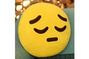 Prixwhaou.fr Coussin-woosing creative emoji coussin arrière, taille: environ 28cm x 28cm