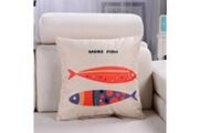 Prixwhaou.fr Coussin-motif de bande dessinée lin coussin coton support dossier support coussin avec oreiller insert, taille: 45cm x 45cm