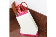 Prixwhaou Étagère-multifonctions cuisine accessoires en plastique couteau rack de stockage, taille: 17.5 * 10.5 * 21.5 cm (rouge)