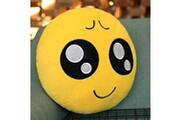 Prixwhaou Coussin-creative emoji coussin arrière, taille: environ 28cm x 28cm
