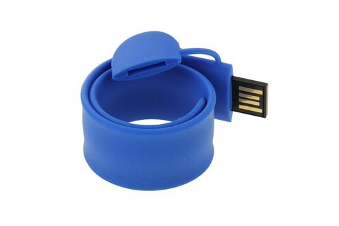 Prixwhaou Clés usb-silicone bracelet usb flash disk avec 16 go de mémoire (bleu foncé)