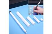 Prixwhaou Apple pencil accessoires-pour apple pencil creative 4 en 1 anti-perdus (crayon crayon 2 * penholder cover) touchpen silicone set de protection (blanc)