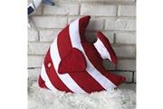 Prixwhaou.fr Coussin-coussin de lit en forme de coussin de lit avec oreiller, taille: 48 x 45 cm (rouge)