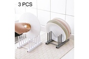 Prixwhaou Étagère-3 étagères en plastique démontables de support de plat de maison de cuisine de pcs multi-fonction, livraison aléatoire de couleur