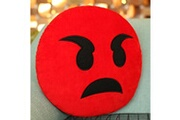 Prixwhaou.fr Coussin-creative emoji coussin arrière, taille: environ 28cm x 28cm