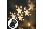 Prixwhaou.fr Extérieur laser-lampe de projection à del avec motif d'étoiles blanc chaud