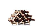 Prixwhaou Étagère-6 bouteilles porte-bouteilles support de vin pliable support de vin en bois cuisine bar présentoir