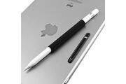 Prixwhaou Apple pencil accessoires-jeu de poignées en silicone à manchon magnétique pour crayon apple (noir)
