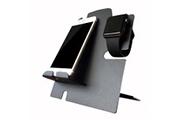 Prixwhaou Station de charge-support apple watch avec station d'accueil iphone - station de recharge 2 en 1 pour tous les modèles d'iwatch et de téléphone (noir)