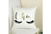 Prixwhaou.fr Coussin-bloom pattern fashion or emboutissage coussin oreiller canapé repose-pieds (sans oreiller) dimensions: 45 * 45cm