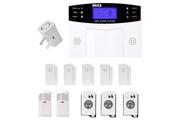 Prixwhaou Système d'alarme-ya-500-gsm-21 12 dans 1 kit sans fil 315mhz gsm sms sécurité maison système d'alarme anti-effraction avec écran lcd