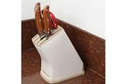 Prixwhaou Étagère-multifonctions cuisine accessoires en plastique couteau rack de stockage, taille: 17.5 * 10.5 * 21.5 cm (taupe)
