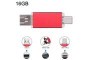 Prixwhaou Clé usb et lecteur de carte-16 go 3 en 1 usb-c / type c usb 2.0 disque flash otg (rouge)