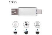 Prixwhaou Clé usb et lecteur de carte-16 go 3 en 1 usb-c / type c usb 2.0 disque flash otg (argent)