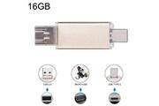 Prixwhaou Clé usb et lecteur de carte-16 go 3 en 1 usb-c / type c usb 2.0 disque flash otg (or)