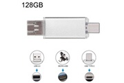Prixwhaou Clé usb et lecteur de carte-128 gb 3 en 1 usb-c / type c usb 2.0 disque flash otg