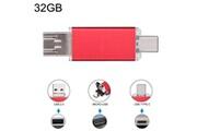 Prixwhaou Clé usb et lecteur de carte-32 gb 3 en 1 usb-c / type c usb 2.0 disque flash otg (rouge)