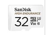 Sandisk Sandisk carte microsdhc haute endurante pour la vidéosurveillance + adaptateur sd, 32 go, jusqu'à 100mo/s en lecture et 40mo/s en écriture, class 10,