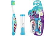 Promobo Set ludique enfant brosse a dents avec sablier design city bleu