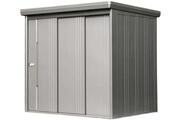 Takubo Abri de jardin en acier galvanisé avec portes coulissantes 3,50 m²