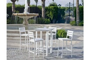 Hevea Salon de jardin en aluminium table bar 4 places anthonyna