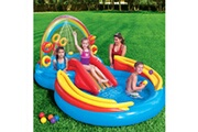 GENERIQUE Icaverne - piscines superbe intex piscine gonflable rainbow ring play center 297x193x135cm 57453np