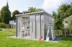 Takubo Abri de jardin en acier galvanisé avec portes coulissantes 6,64 m² photo 4