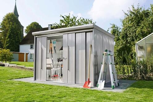 Takubo Abri de jardin en acier galvanisé avec portes coulissantes 6,64 m²