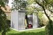Takubo Abri de jardin en acier galvanisé avec portes coulissantes 6,64 m² photo 3