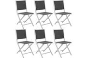 Proloisirs Chaises pliantes en aluminium ida (lot de 6)