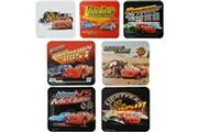 Disney Lot 2 stickers magnet frigo relief 3d enfant disney cars flash mcqueen