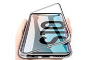 Phonillico Coque magnétique argent protection métal pour samsung galaxy s10 [phonillico®]