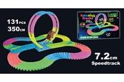 Toyspro Amazing tracks - circuit de voiture flexible. Modulable. Luminescent avec ses accessoires - 131 pièces--