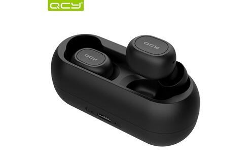 Qcy Qcy t1c bt 5.0 tws sans fil écouteurs de musique avec micro bluetooth sport eu noir