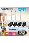 Floureon 4ch cctv 1080p kit dvr extérieur wifi wlan 720p caméra ip 1 to hddsecurity enregistreur vidéo système nvr eu