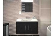 AUCUNE Meuble de salle de bain laqué gris 1 vasque sikkie 80 cm