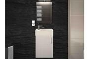AUCUNE Meuble de salle de bain laqué blanc 1 vasque micky 40 cm