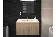 AUCUNE Meuble de salle de bain bois clair 1 vasque sikkie 80 cm