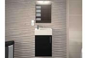 AUCUNE Meuble de salle de bain bois noir mat 1 vasque micky 40 cm